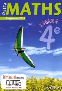 Livres Couvertures de Delta maths 4e cycle 4 - Nouveau programme 2016