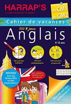 Livres Couvertures de Harrap's Cahier de vacances anglais CM1