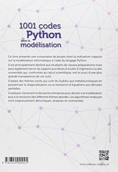 Livres Couvertures de 1001 Codes Python pour la Modélisation Spécial Classes Prépas