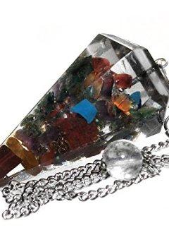 Livres Couvertures de Pendule pour radiesthésie en Orgonita avec cristaux des 7 chakras pour guérison et voyance