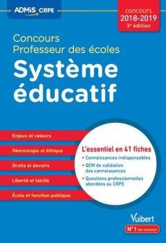 Livres Couvertures de CRPE, système éducatif, l'essentiel en 50 fiches : Concours 2018-2019