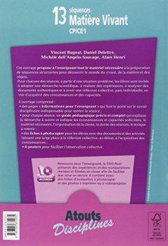 Livres Couvertures de 13 séquences Matière Vivant (+ DVD-Rom)
