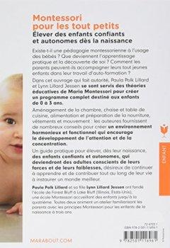 Livres Couvertures de Montessori pour les tout petits: Léducation commence dès la naissance