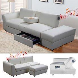 KIN-Funktionssofa-mit-Bluetooth-Weiss-Schlafsofa-Sofa-Bettsofa-Couch