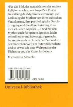 Abdeckungen Metamorphosen: Lat./Dt. (Reclams Universal-Bibliothek)
