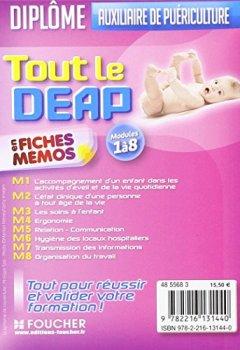 Livres Couvertures de Tout le DEAP en fiches mémos: Diplôme d'Etat Auxiliaire de puériculture