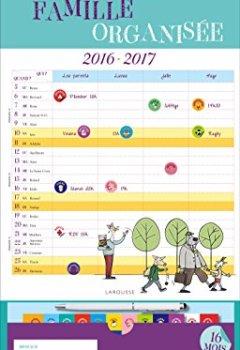 Livres Couvertures de Calendrier de la famille organisée 2016-2017
