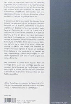 Livres Couvertures de Fonctions exécutives et pathologies neurologiques et psychiatriques : Evaluation en pratique clinique