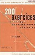 200 Exercices de Mathématiques Générales, Cours du conservatoire National des Arts et Métiers