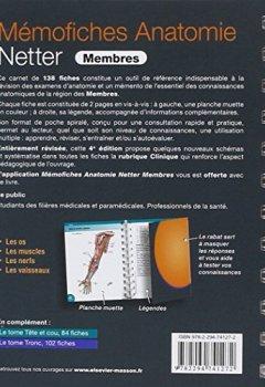 Livres Couvertures de Mémofiches Anatomie Netter - Membres