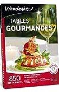 Wonderbox - Coffret cadeau TABLES GOURMANDES – 850 restaurants labellisées, cuisines gastronomiques
