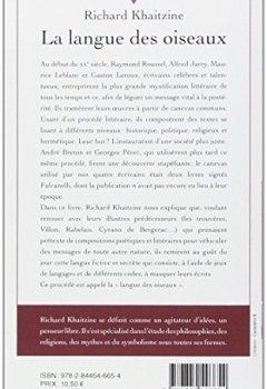 Livres Couvertures de La langue des oiseaux : Quand littérature et ésotérisme se rencontrent