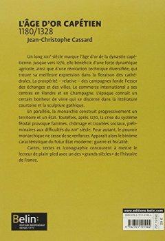 Livres Couvertures de L'age d'or capétien 1180-1328 - Format compact