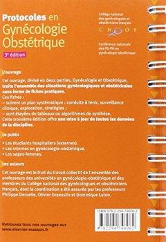 Livres Couvertures de Protocoles en Gynécologie-Obstétrique