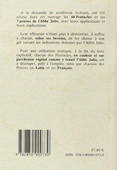 Livres Couvertures de Les véritables pentacles et prières de l'Abbé Julio