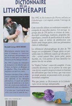 Livres Couvertures de Dictionnaire de la lithothérapie - Propriétés énergétiques des pierres et cristaux naturels