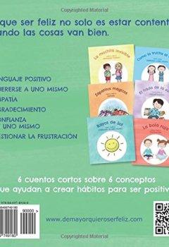 Portada del libro deDe mayor quiero ser feliz: 6 cuentos cortos para potenciar la positividad y autoestima de los niños.