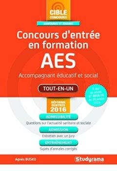 Livres Couvertures de Concours d'entrée AES - Accompagnant éducatif et social