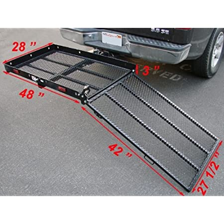 THIS IS THE PLATFORM & RAMP ALL IN ONE & IT JUST SLIDES INTO THE HITCH ON BACK OF THE CAR. This wheelchair carrier is designed to allow easy loading and transporting of your wheelchair, scooter or other item. The wheelchair carrier features an integr...