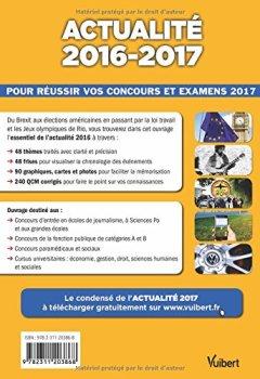 Livres Couvertures de Actualité 2016-2017 - Concours et examens 2017-Tous les évènements incontournables