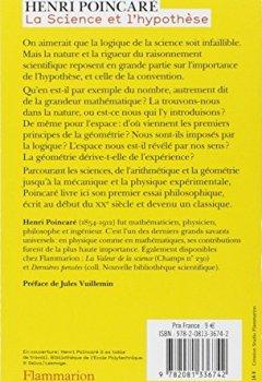 Livres Couvertures de La science et l'hypothèse