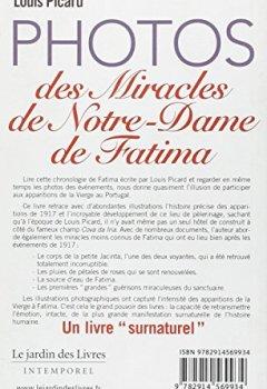 Livres Couvertures de Photos des miracles de notre-dame de fatima