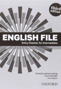 Portada del libro deEnglish File. Intermediate Student's Book + Workbook  + Entry Checker (con clave) (English File Third Edition)