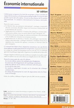 Livres Couvertures de Economie internationale 10e édition