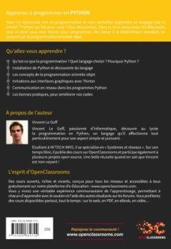Livres Couvertures de Apprenez à Programmer en Python (2e édition)