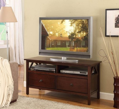 Image of Linon Home Decor Titian TV Stand (86158ATOB-01-KD-U)