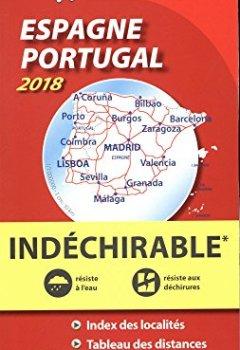 Livres Couvertures de Carte Espagne Portugal Indéchirable Michelin 2018
