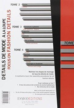 Livres Couvertures de Détails de mode à la loupe : Tome 1, Généralités, coutures, pattes de boutonnage, empiècements, modes opératoires, édition bilingue français-anglais
