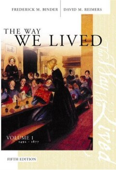 Livres Couvertures de The Way We Lived: Essays and Documents in American Social History 1492-1877
