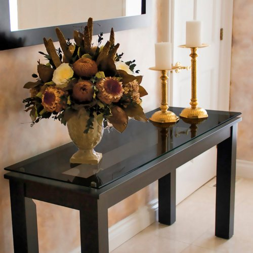 Image of Plateau THS Contemporary Console Table in Black on Black (SL-THS (54 X 16) (B)-BG)