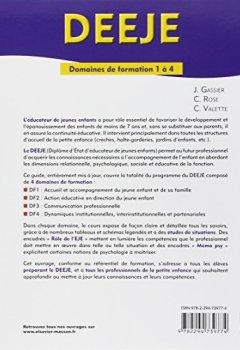 Livres Couvertures de DEEJE. Diplôme d'État d'éducateur de jeunes enfants: Domaines de formation 1 à 4