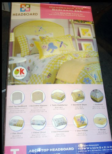 Image of Twin Headboard and Olive Kids Bedroom Set (B002TU2GY2)