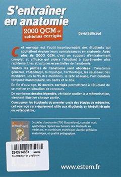 Livres Couvertures de S'entraîner en anatomie - 2000 QCM et schémas corrigés
