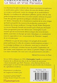 Livres Couvertures de Le Seul et Vrai Paradis : Une histoire de l'idéologie du progrès et de ses critiques