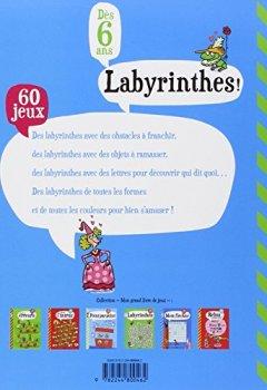 Livres Couvertures de Mon Grand Livre de Jeux : Labyrinthes - Dès 6 ans