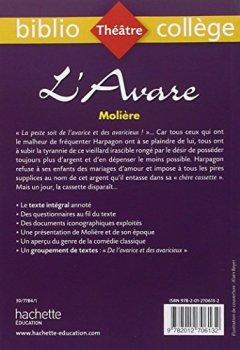 Livres Couvertures de Bibliocollège - L'Avare, Molière