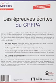 Livres Couvertures de Les épreuves écrites du CRFPA - 3e éd.