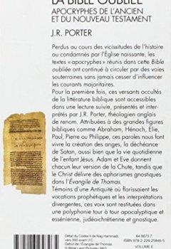 Livres Couvertures de La Bible oubliée : Apocryphes de l'Ancien et du Nouveau Testament