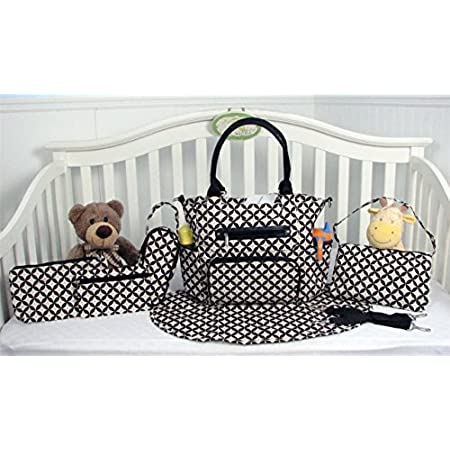 The Mommy Essentials 7-piece Diaper Tote Set is an unmatched value, and the complete solution for taking baby on the go. The large tote bag, a smaller purse with carrying strap for mom on the go. It also comes with a matching changing station, two di...