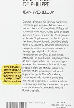 Livres Couvertures de L'Evangile de Philippe