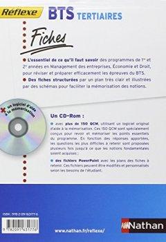 Livres Couvertures de Fiches Réflexe - Management des entreprises Economie Droit - BTS Tertiaires