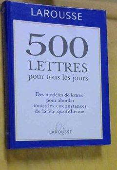 Livres Couvertures de 500 LETTRES PTL JOURS