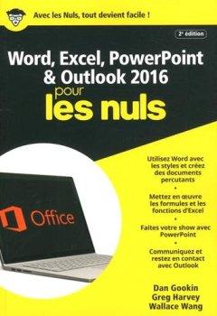 Livres Couvertures de Word, Excel, PowerPoint et Outlook 2016 pour les Nuls mégapoche, 2e édition