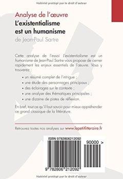 Livres Couvertures de L'existentialisme est un humanisme de Jean-Paul Sartre (Analyse de l'oeuvre): Comprendre la littérature avec lePetitLittéraire.fr