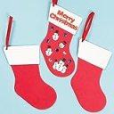 スポンジ 無地クリスマスブーツ(6枚入り) 自分だけのオリジナルを作ろう