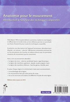 Livres Couvertures de Anatomie pour le mouvement, tome 1: Introduction à l'analyse des techniques corporelles